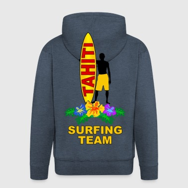 tahiti surfing team - Men's Premium Hooded Jacket