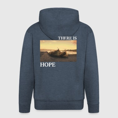 There_is_hope_picture_white_letters - Männer Premium Kapuzenjacke