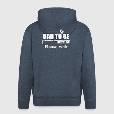 FATHER DADDY FATHER: DAD TO BE GIFT - Men's Premium Hooded Jacket