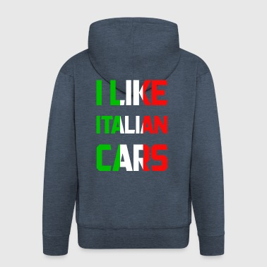 Italy cars - Men's Premium Hooded Jacket