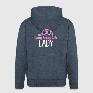 Crazy Armadillo Lady T-Shirt - Cute Armour Shell - Men's Premium Hooded Jacket