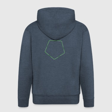 Shifted polygon Green - Men's Premium Hooded Jacket