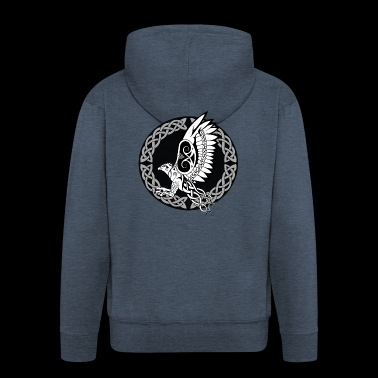 Celtic Harpy / Celtic Harpy Bird (With Circle) - Men's Premium Hooded Jacket