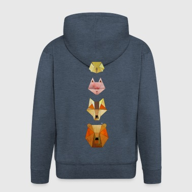 Geometric forest animals - Men's Premium Hooded Jacket
