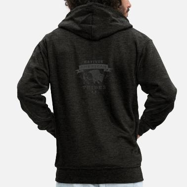 American Tribes of the American Indians - Men's Premium Zip Hoodie