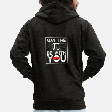 Pi PI MATHEMATICS - Men's Premium Zip Hoodie