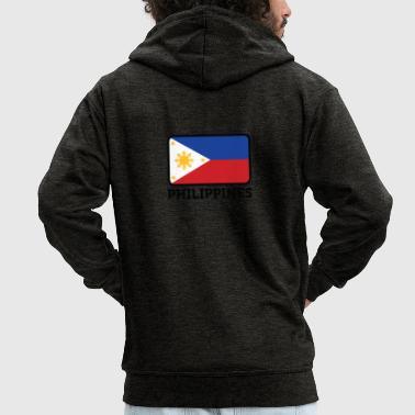 Manila National Flag Of The Philippines - Men's Premium Hooded Jacket