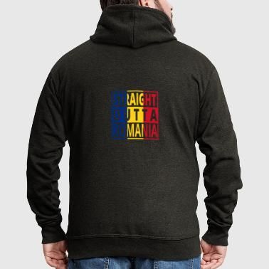 Straight outta ROMANIA Romania Roma nia - Men's Premium Hooded Jacket