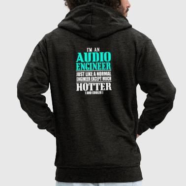 AUDIO ENGINEER - Men's Premium Hooded Jacket