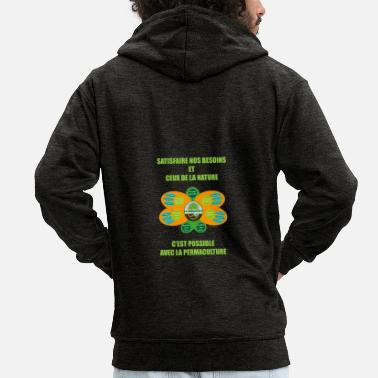 Ethical Ethics and Principles of Permaculture - Men's Premium Hooded Jacket