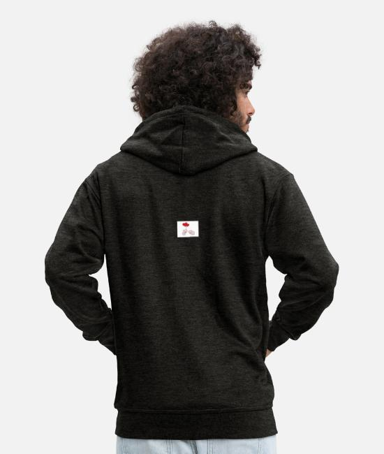 Love Hoodies & Sweatshirts - Love, Valentine's Day, Valentine, Cupid, February 14th - Men's Premium Zip Hoodie charcoal grey