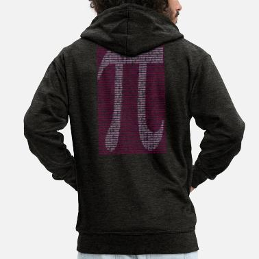Pi Pi Number Sign 3.14 Gift - Men's Premium Zip Hoodie