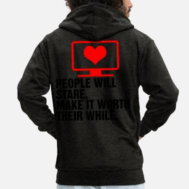 Tv TV TV Proverbs - Men's Premium Zip Hoodie