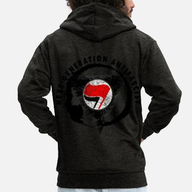 Red Star NEXT GENERATION ANTIFASCIST NEXT GENERATION - Men's Premium Zip Hoodie