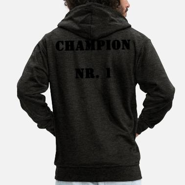 Record Champion Champion No. 1 - Men's Premium Zip Hoodie