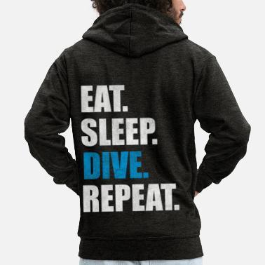 Scuba Diving Instructor Diver Scuba Diving Instructor Saying Gift - Men's Premium Zip Hoodie