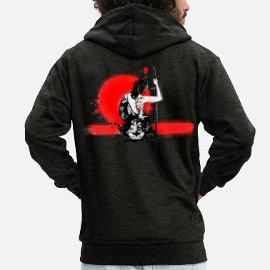 Cherry Blossom samurai girl - Men's Premium Hooded Jacket