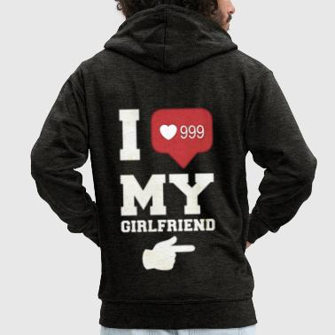 I Love My Girlfriend - Premium Hettejakke for menn
