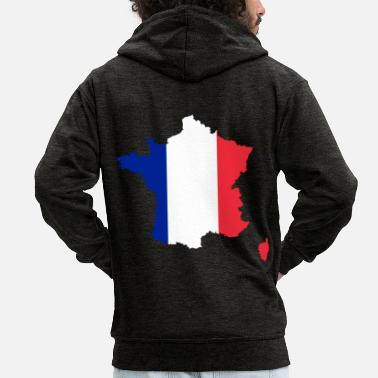 France France - France - Men's Premium Zip Hoodie