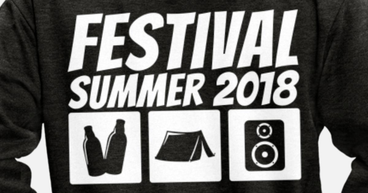Premium D'été Spreadshirt 2018 Veste Homme Capuche À Festival wZqxXRdZ