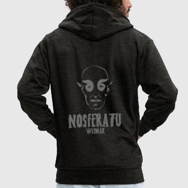 Nosferatu horror movie horror spaventoso - Felpa con zip Premium da uomo