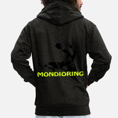 Scalable Mondioring, bicolor - Men's Premium Zip Hoodie