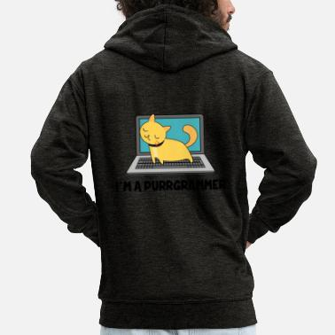 Windows Cat Programmer Fur Computer Nerd Gift - Premium-Luvjacka herr