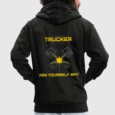Truck driver truck lorry - Men's Premium Hooded Jacket
