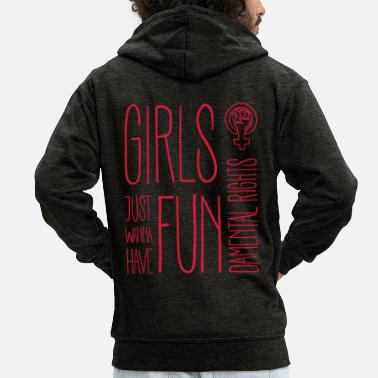 Just Girls just wanna have fundamental rights - Männer Premium Kapuzenjacke