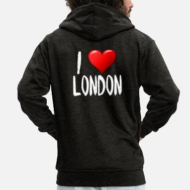 I Love London - Männer Premium Kapuzenjacke