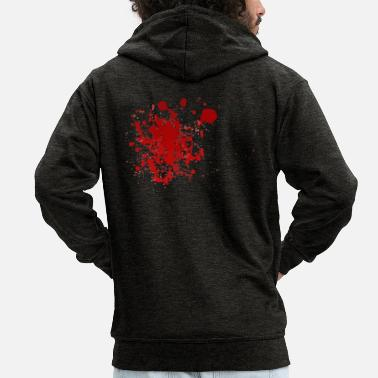 Blood Splatter Blood splatter splatter Halloween blood spatter - Men's Premium Hooded Jacket