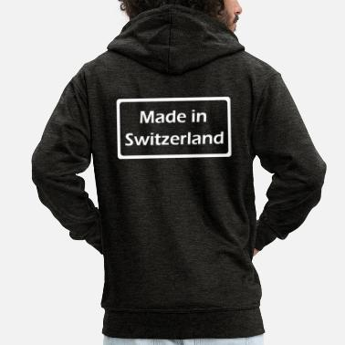 Switzerland Made in Switzerland - Men's Premium Zip Hoodie