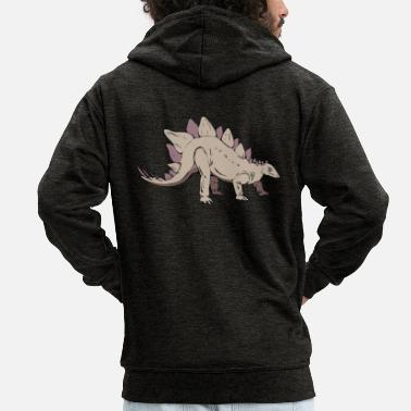 Stegosaurus stegosaurus - Men's Premium Hooded Jacket