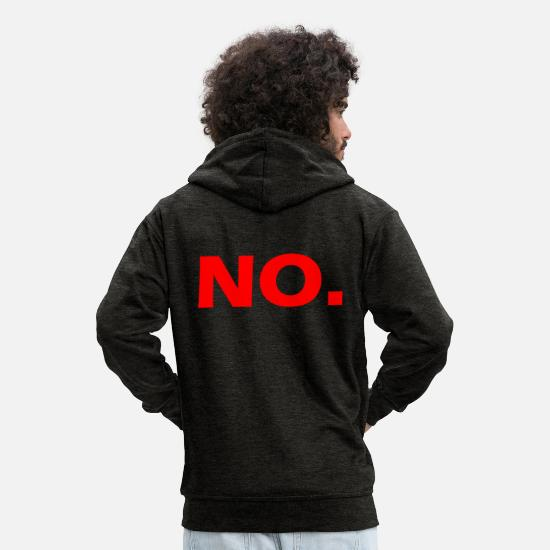 No Hoodies & Sweatshirts - NO - Men's Premium Zip Hoodie charcoal grey