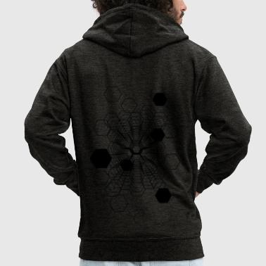 Cosmic Honeycomb - Men's Premium Hooded Jacket