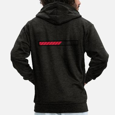 Bar Loading loading bar bar - Men's Premium Zip Hoodie