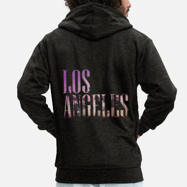 Los Angeles los Angeles - Men's Premium Zip Hoodie