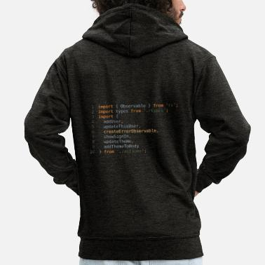 Code Coding - Men's Premium Hooded Jacket