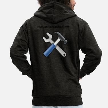 industrial mechanic - Men's Premium Zip Hoodie