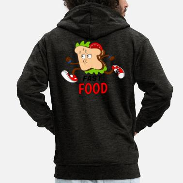 Fast Food FAST FOOD - Men's Premium Hooded Jacket