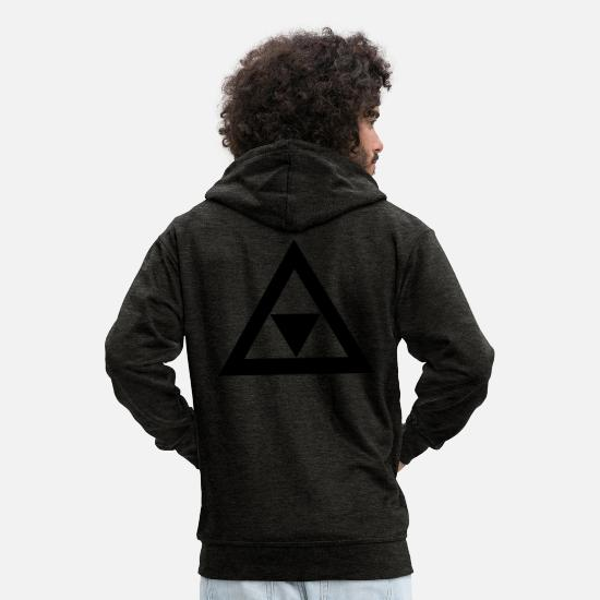 Tv Sweat-shirts - Triangle dans le triangle - Veste à capuche premium Homme charbon