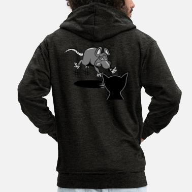 Scare rat scared scare cat - Men's Premium Zip Hoodie