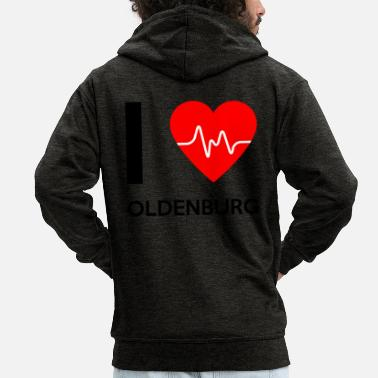 Oldenburg Amo Oldenburg - Me encanta Oldenburg - Chaqueta con capucha premium hombre