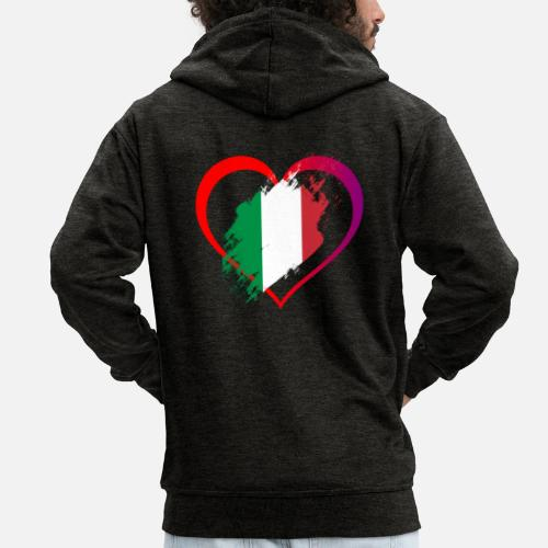 Italie Homme J'aime À Spreadshirt Capuche Premium Veste Collection 1wBwqF