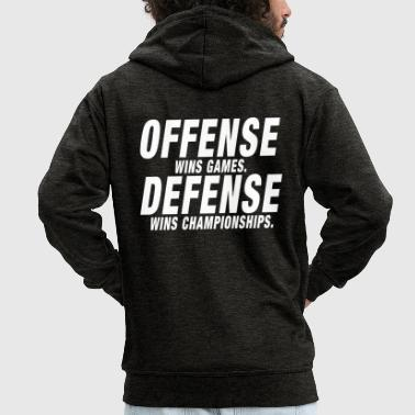 Offense Defense Championship - Men's Premium Hooded Jacket