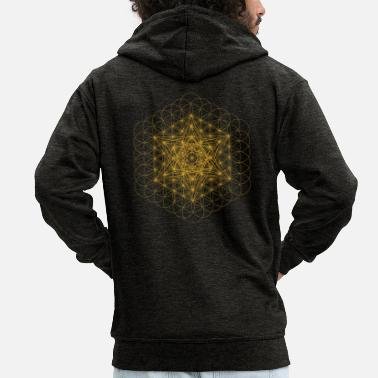 Front Metatron upgrade symbol - Men's Premium Zip Hoodie