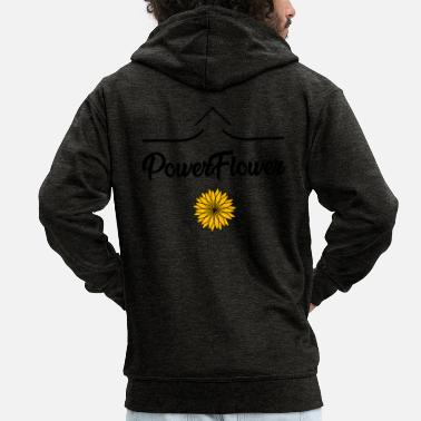 Flower Power Flower POWER - Men's Premium Zip Hoodie