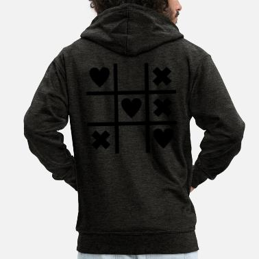 Tic Tac Toe tic tac toe heart - Men's Premium Hooded Jacket