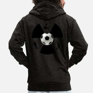 Football Regalo di Football Design Club Fanclub Hobby - Felpa con zip premium uomo