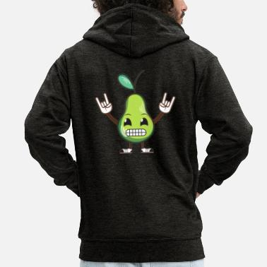 Homeless Fruit / Humour - Men's Premium Zip Hoodie